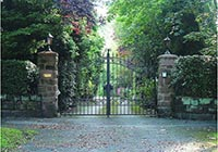 The Stoke-On-Trent is a very decorative gate with double mid rails and a double top bow.